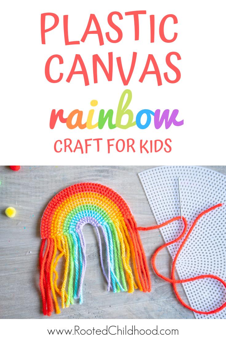 Plastic Canvas Rainbow #rainbowcrafts