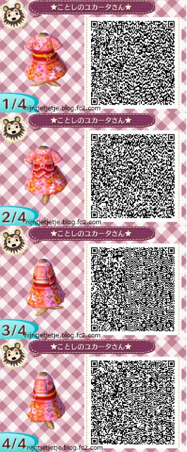 Kimono Rose Rouge Animal Crossing Qr Codes Clothes Animal