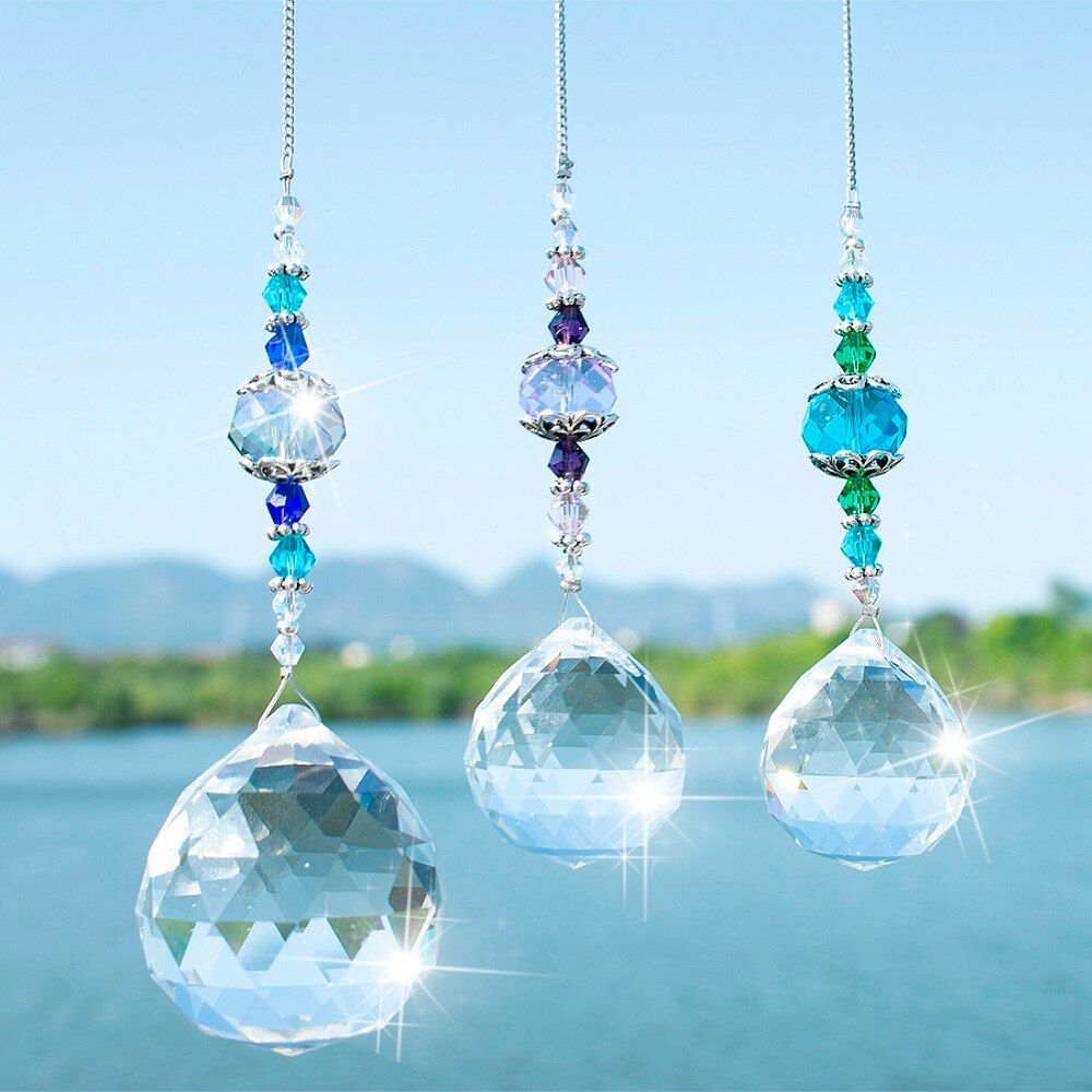 Rainbow Maker Window Prisms Suncatcher Clear Crystal Prism Ball