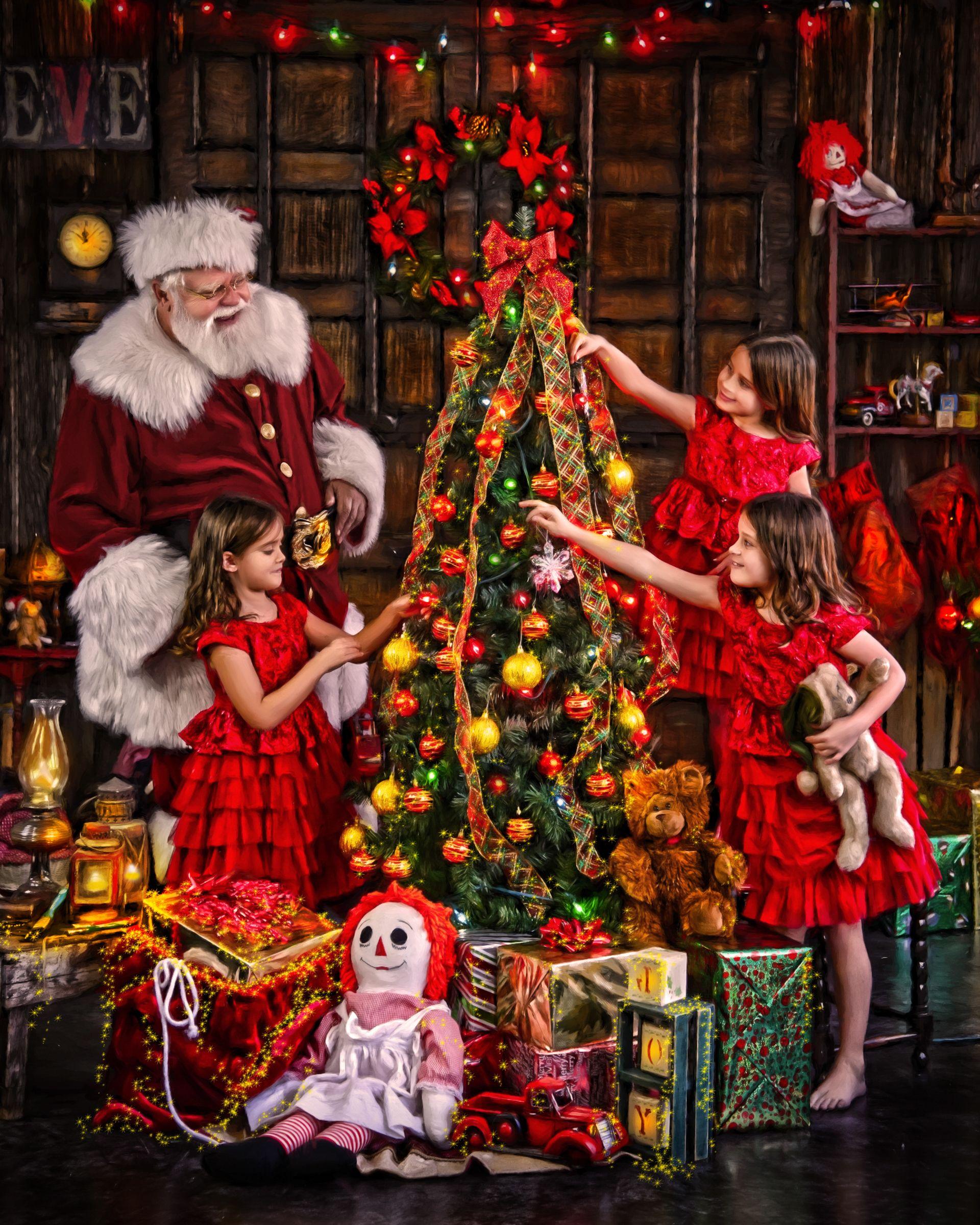 Best Holiday Decor Stores Near Dallas Fort Worth: Pin On Fine Art Santa Portraits At Santa's Workshop
