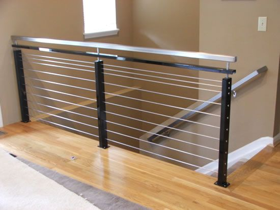 modern interior stair railing | Modern stainless steel handrail ...