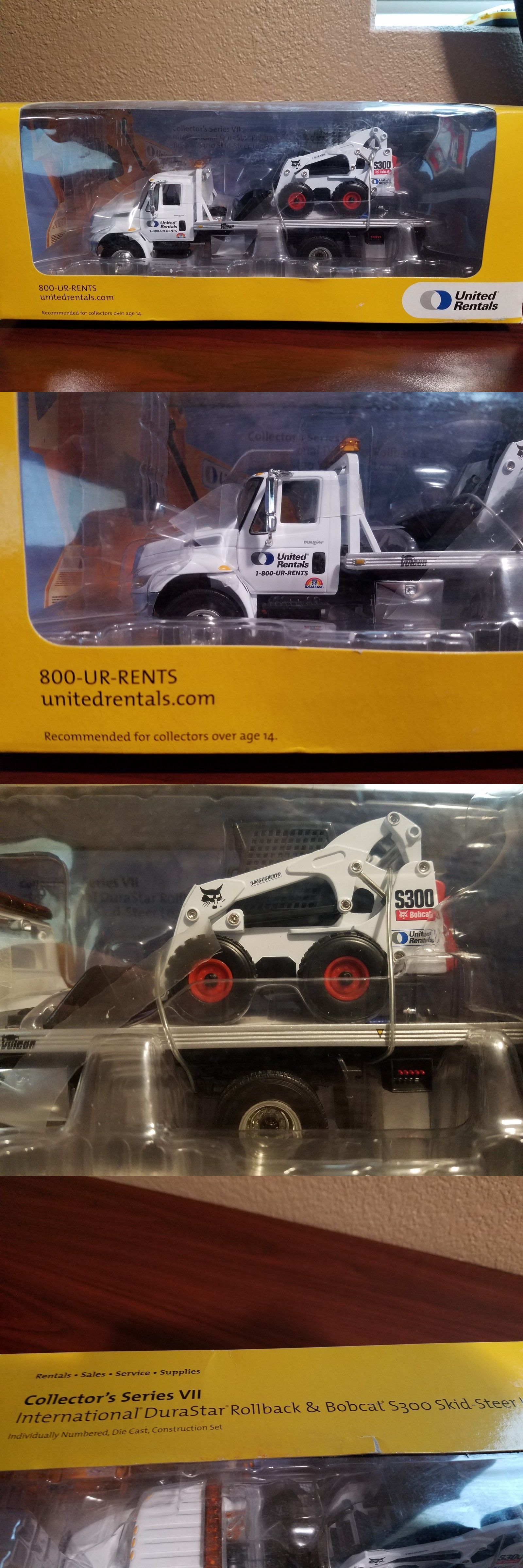Bobcat United Rentals First Gear S Skid Steer Diecast Scale