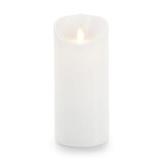 Luminara® Flameless Candles: Classic White Wax Pillar, 6 ...