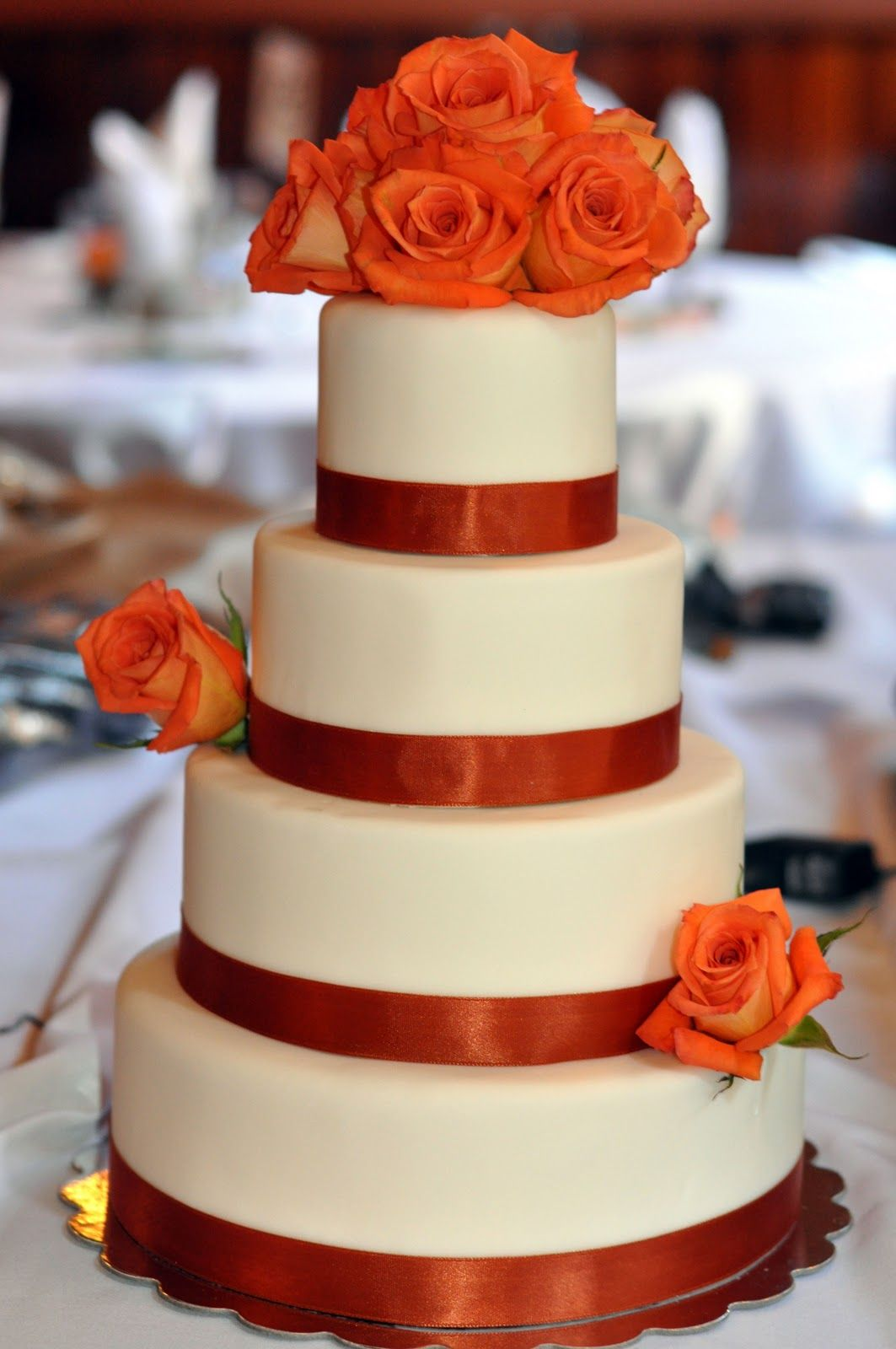 Fall Wedding Cake with purple and merlot of course, simple, pretty ...