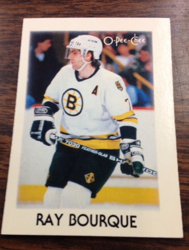 1987 o-pee-chee ray bourqe all-star boston bruins w/ case $7.50 from $0.5