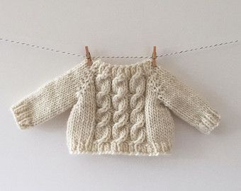 luckyjuju hand knit heirloom sweater - long sleeves