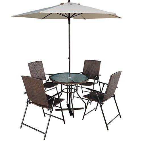 tangkula 6 pcs patio dining set