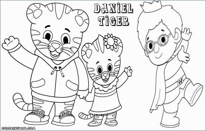 15+ Daniel tiger colouring pages ideas