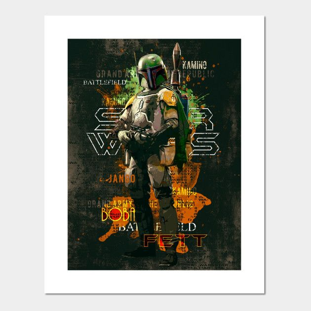 star wars boba feet art print | Displate thumbnail