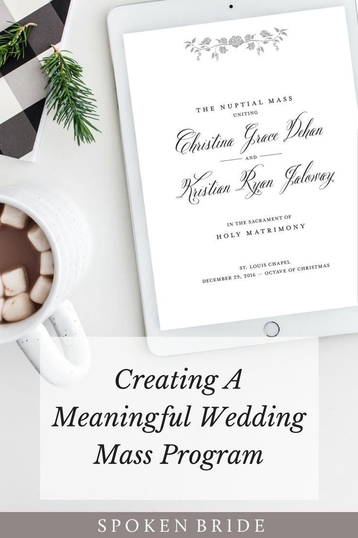 Creating a Meaningful Wedding Mass Program Wedding