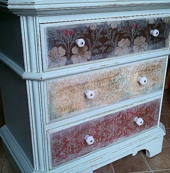 <3 Decoupage Dresser Drawers | IDEAS I LIKE