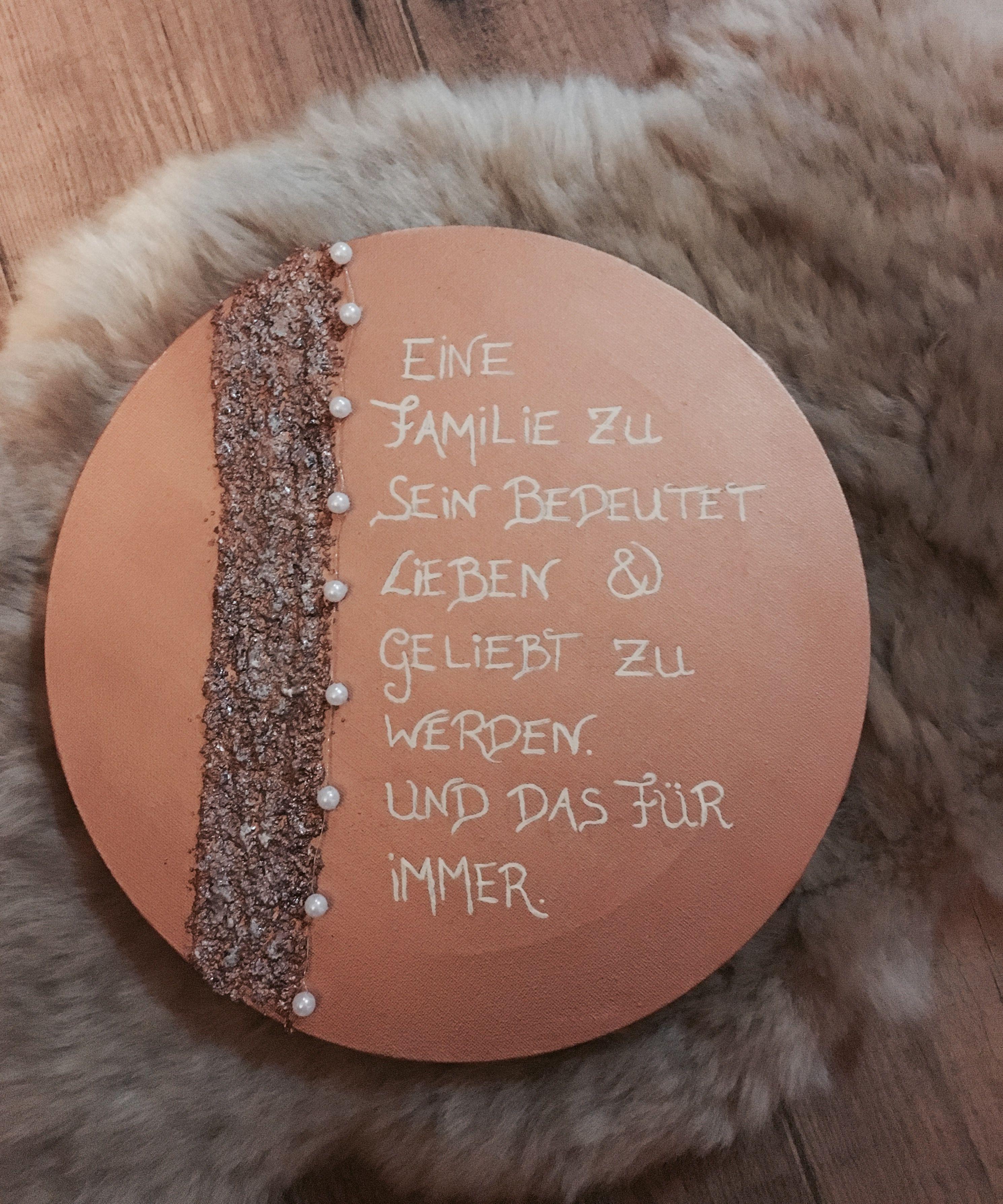 Selfmade  Kurze Sprüche  familie DIY Leinwand