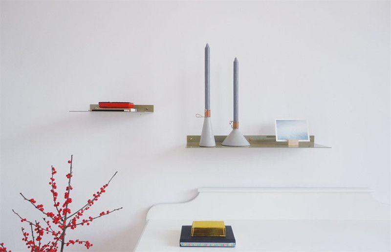 Shelf / Muurplank Groen groot van Studio Isabel Quiroga op DaWanda.com