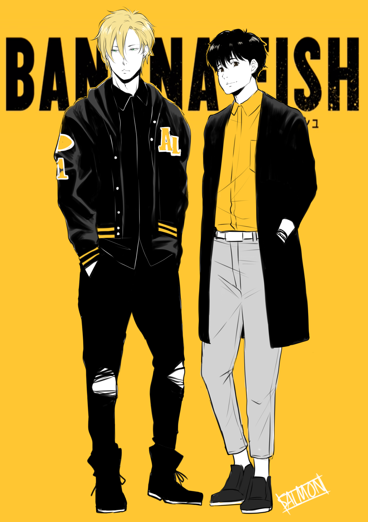 Ash Eiji Banana Fish Banana Fish Anime