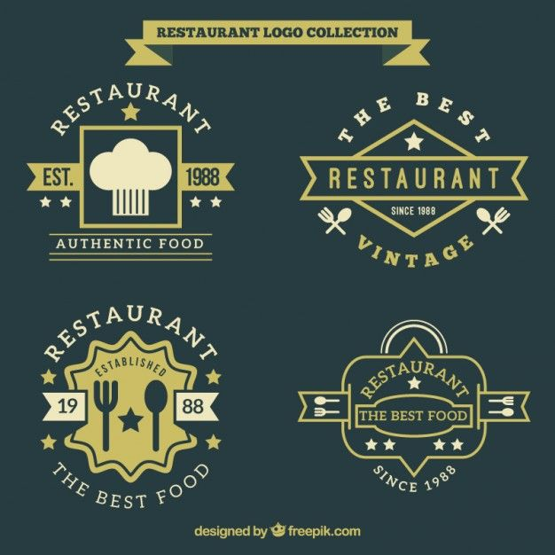 Vintage Restaurant Logo Collection Logo Restaurant Logo Collection Vintage Restaurant
