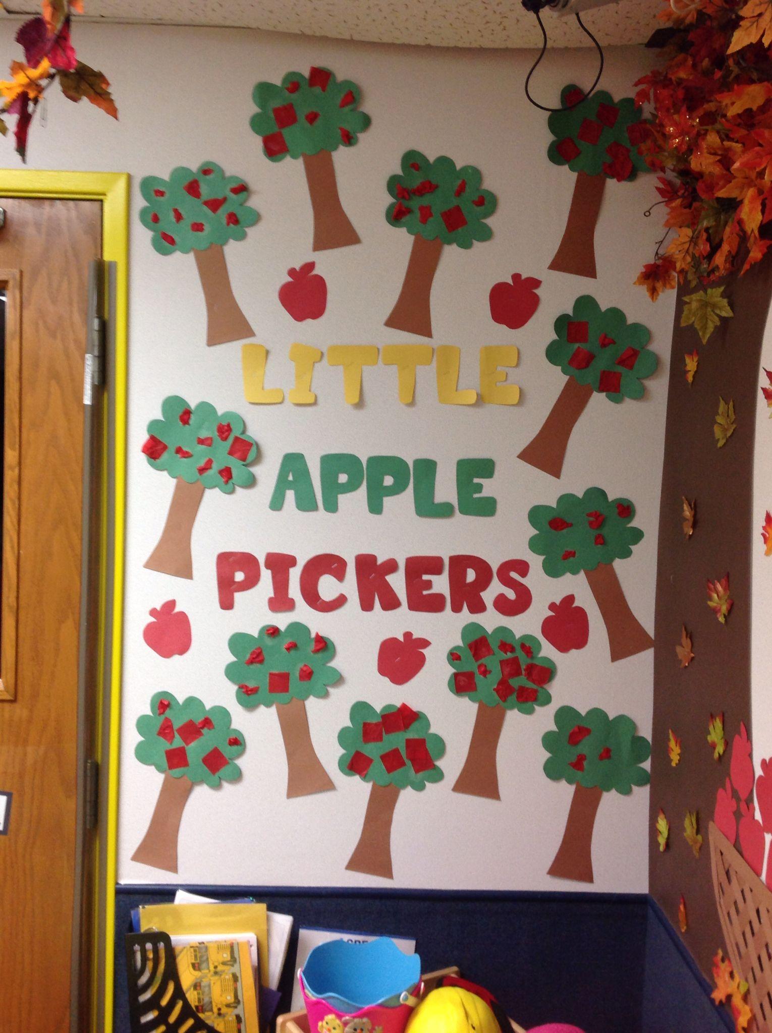 September Apple Orchard Themed Bulletin Board The