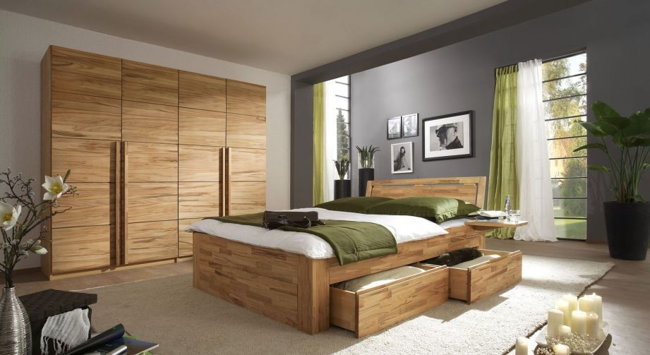 Schlafzimmereinrichtung Andalucia aus Massivholz Bett Pinterest