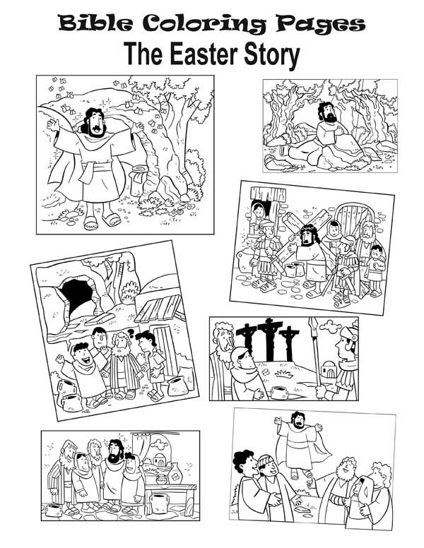 The Easter Story Coloring Pages Bible Coloring Pages Sunday School Coloring Pages Easter Coloring Pages