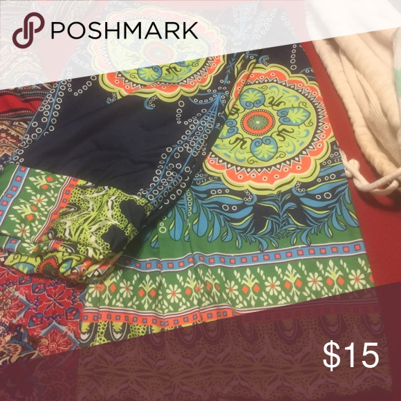 Bohemian Pallazo pants cute flare silk pants size small Pants Wide Leg