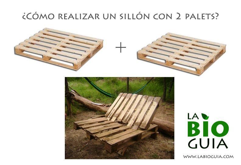 paso a paso de cmo armar un silln rstico para el patio con solo dos palets - Sillon De Palets