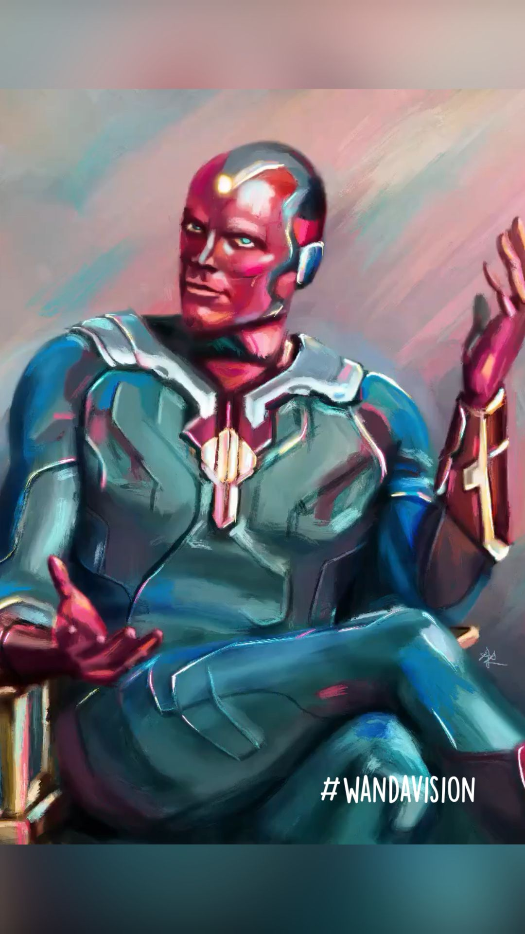 Vision - WandaVision Art - Paul Bettany - Scarlet