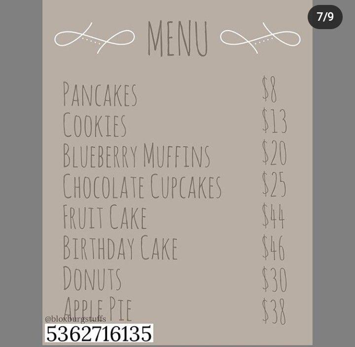 Roblox Bloxburg Cafe Codes Not Mine In 2020 Custom Decals Roblox Codes Decal Design