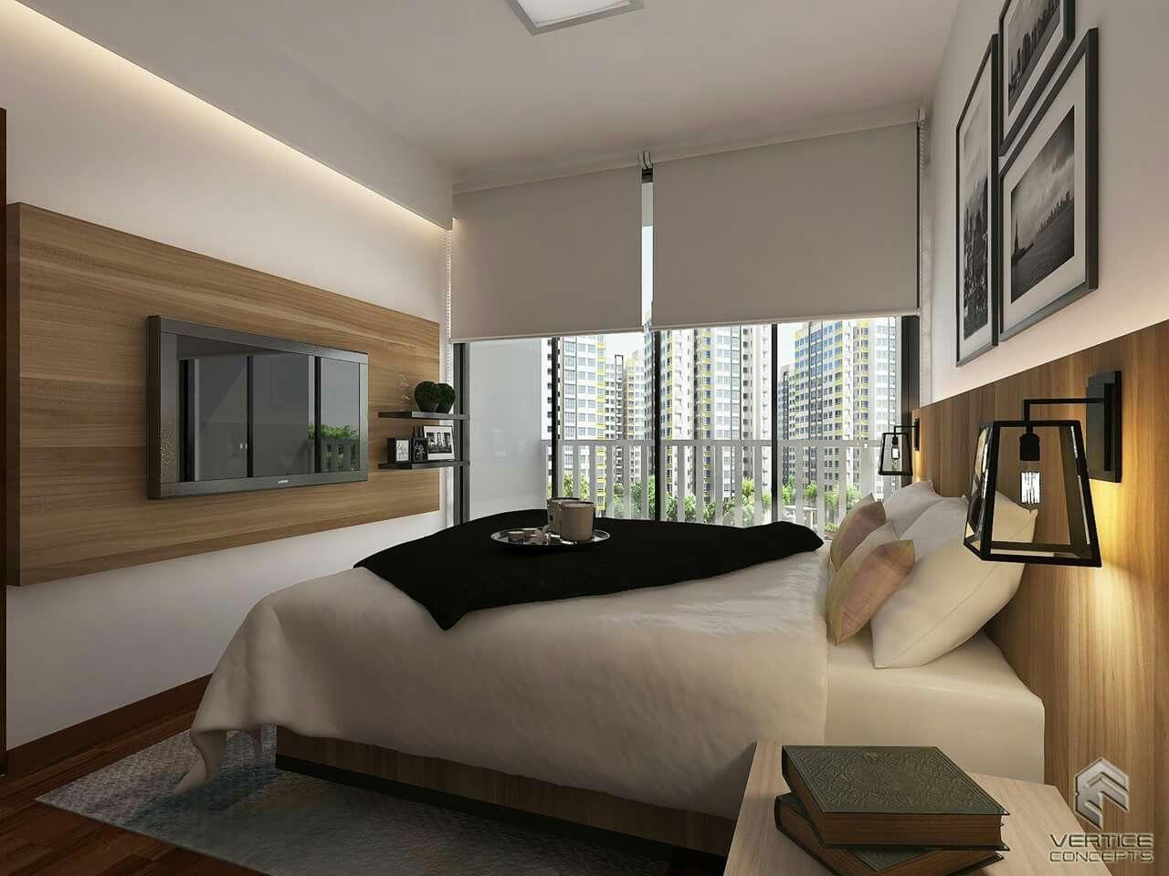 4 room bto master bedroom  Vertice Concepts Pte Ltd Master Bedroom  Interior Design