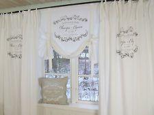 Landhaus Vorhänge lillabelle elegance weiß deko schlaufen gardine 120x240 shabby