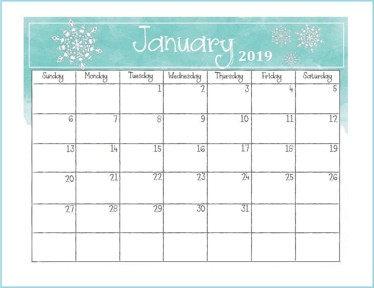 Printable January 2019 Desk Calendar Desk Calendars Monthly