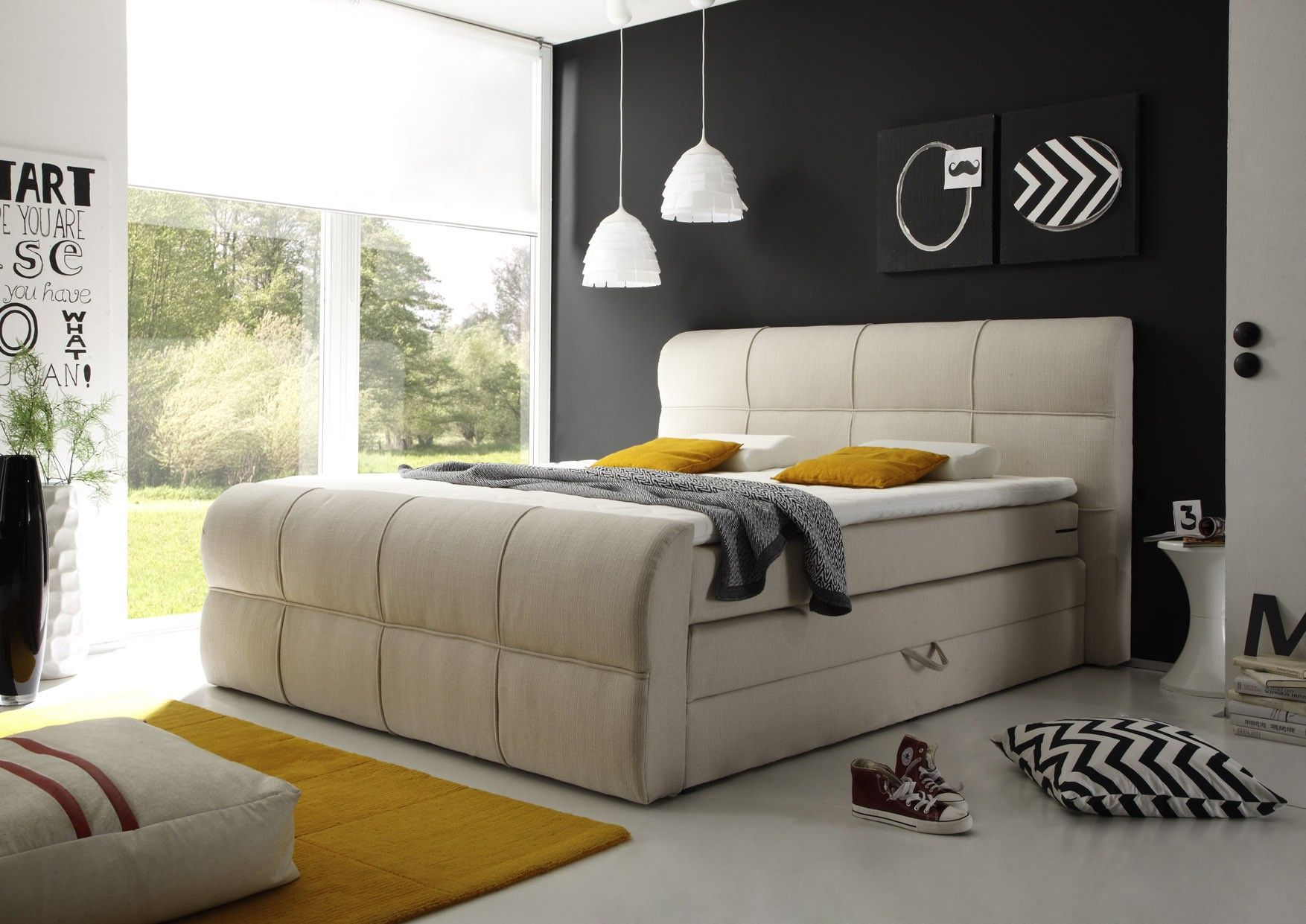 Boxspringbett Gelbe Deko 2 Trends Fur S Schlafzimmer Woody