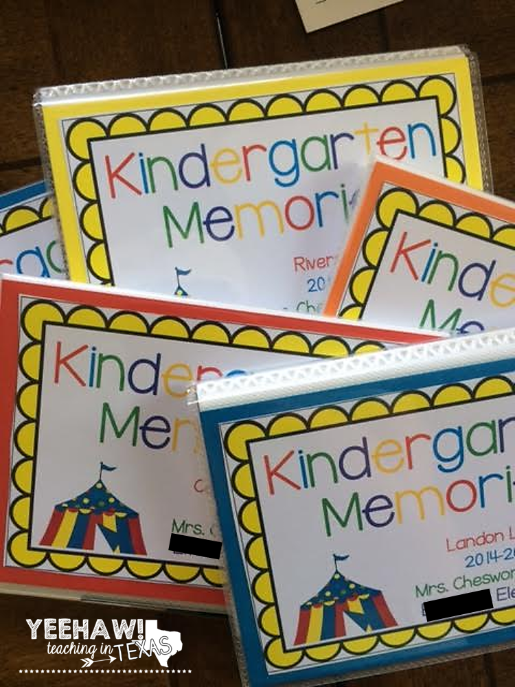 Kinder Garden: End Of The Year Kindergarten Memory Book Ideas.