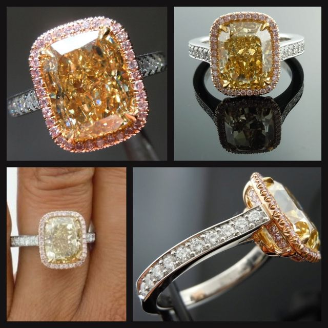 A girl can dream....in my lifetime I will own a canary diamond ring like this.