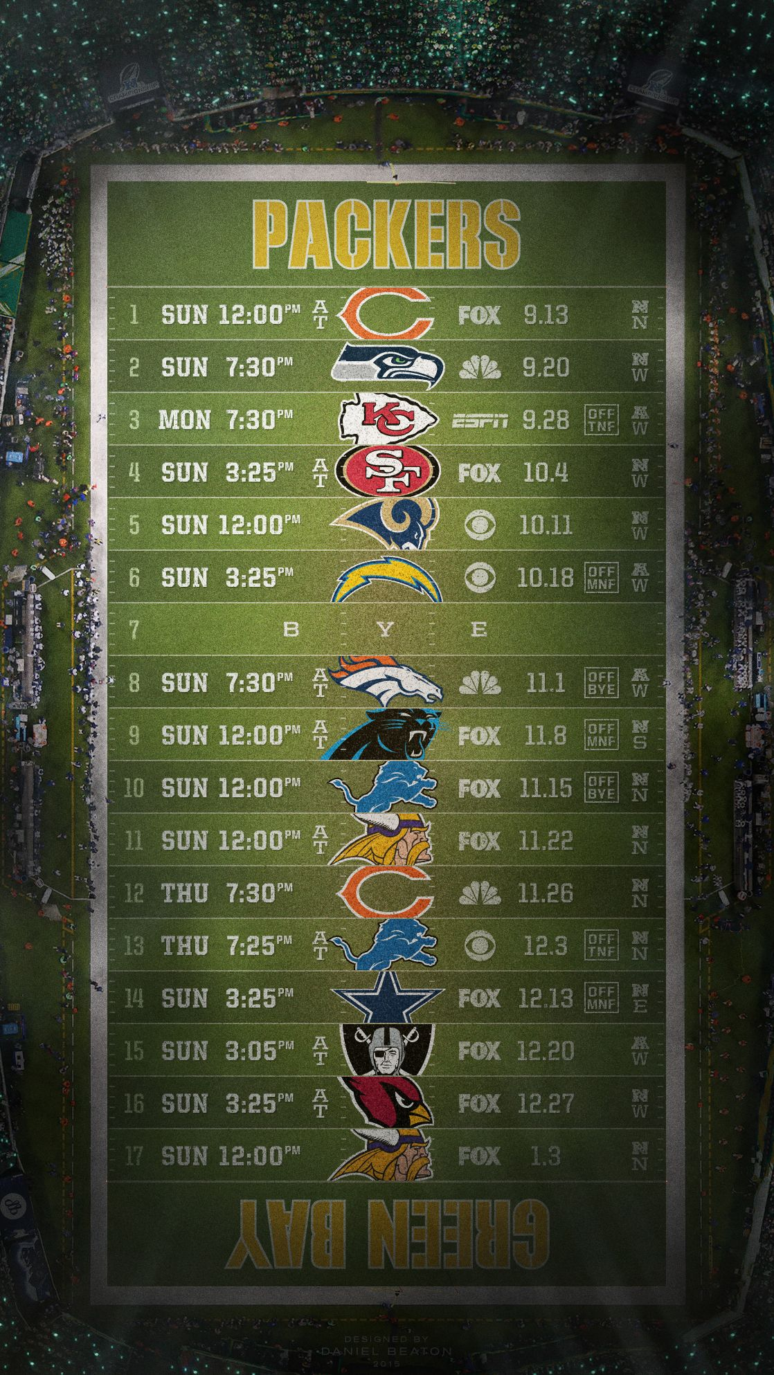NFL Green Bay Packers iPhone Wallpaper