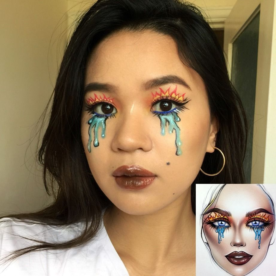 Prinsesia Inspired By Milk1422 Face Chart On Instagram Makeup