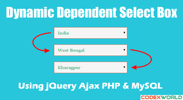 Dynamic Dependent Select Box using jQuery, Ajax and PHP | PHP | Php