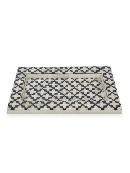 Black Decorative Tray Gorgeous Decorative Traythree Hands At Gilt  Art Trinket Boxes And Design Inspiration