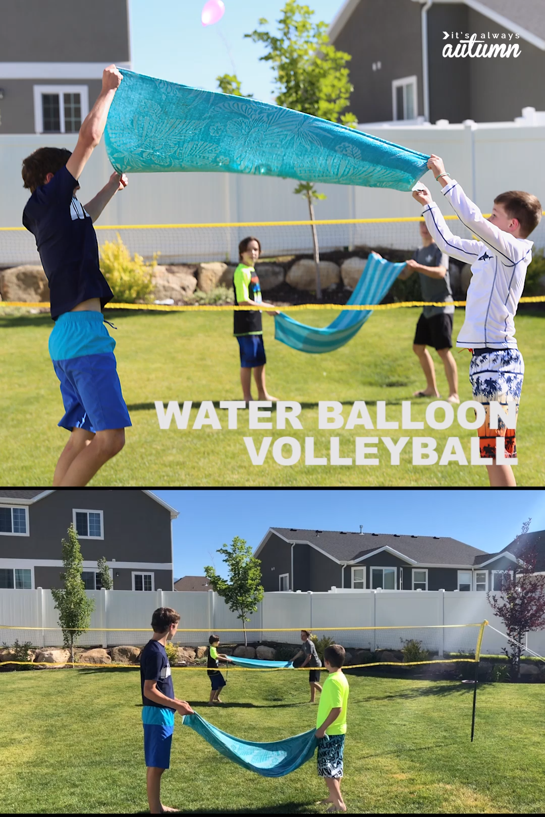 Water Balloon Volleyball Hilarious Summer Water Game It S Always Autumn Video Video Water Games For Kids Water Games Youth Games