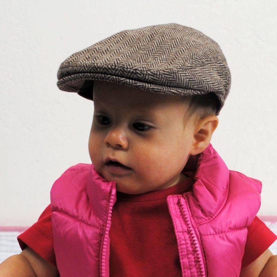 Baby Herringbone Wool Blend Ivy Cap  90b8bc8192f