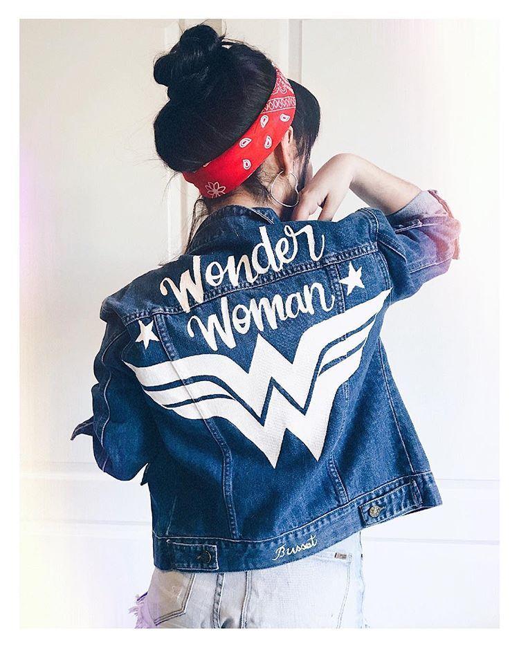Wonder Woman Pedidos Por Mensaje Privado O Desde La Tienda Online Chaquetas De Mezclilla Chaquetas De Jeans Mujer Ropa Pintada