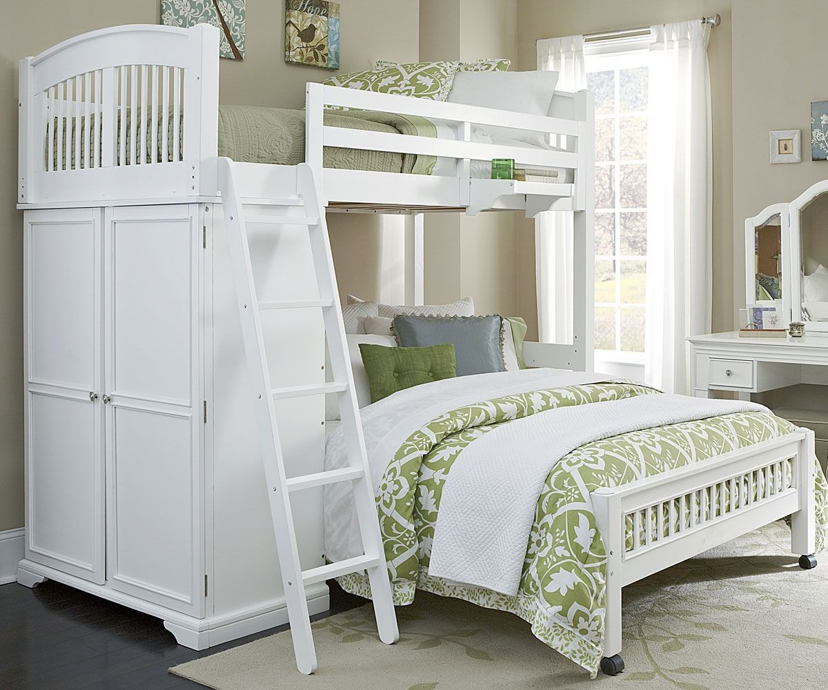 White Twin Over Full Bunk Beds Interior Paint Color