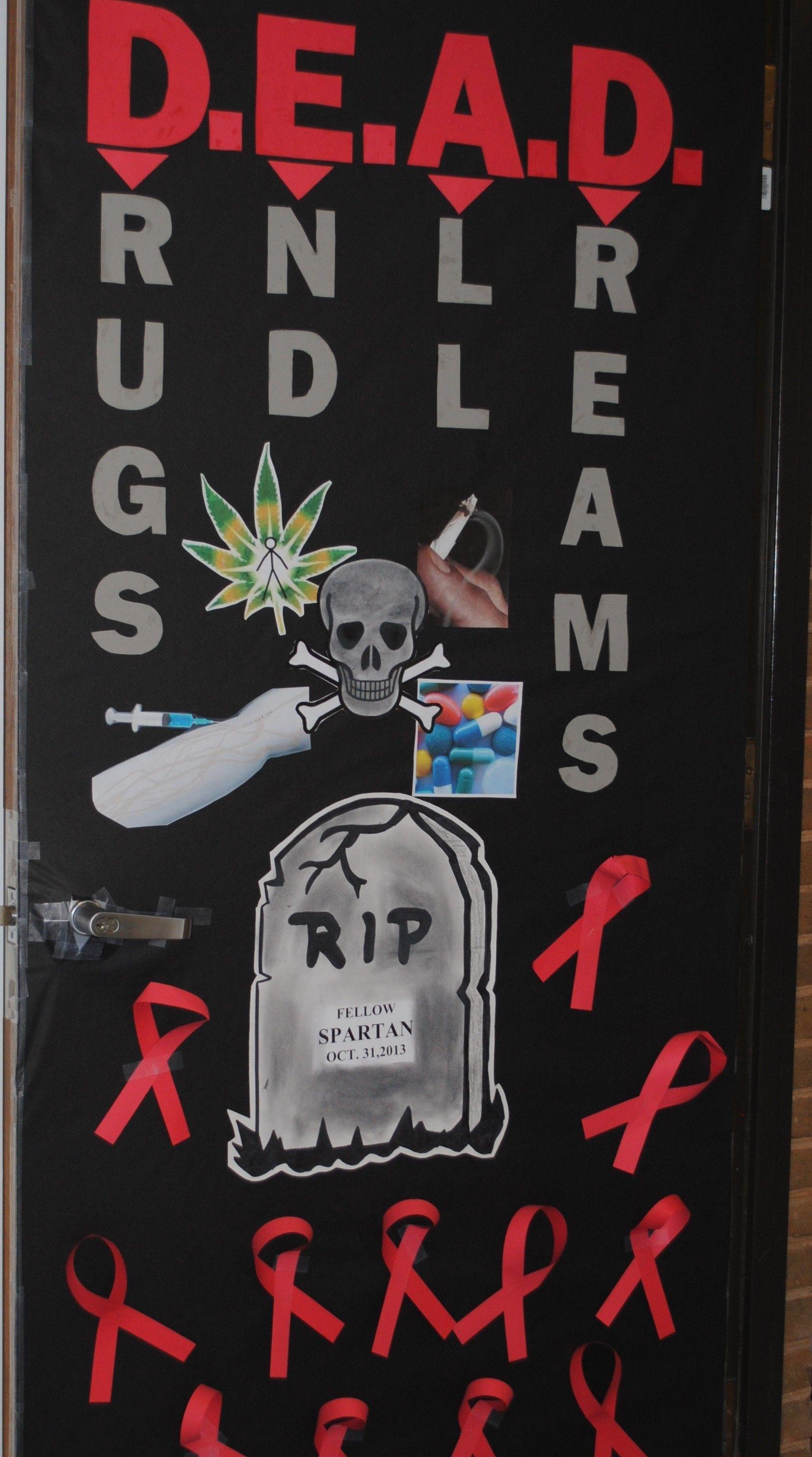 Red Ribbon Week Door Drug Free Door Decorations Red Ribbon