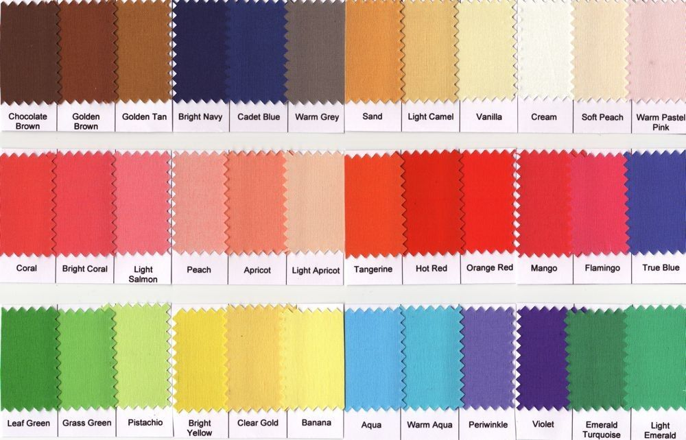 warm spring color palette - for tshirt/cardigan/tank top