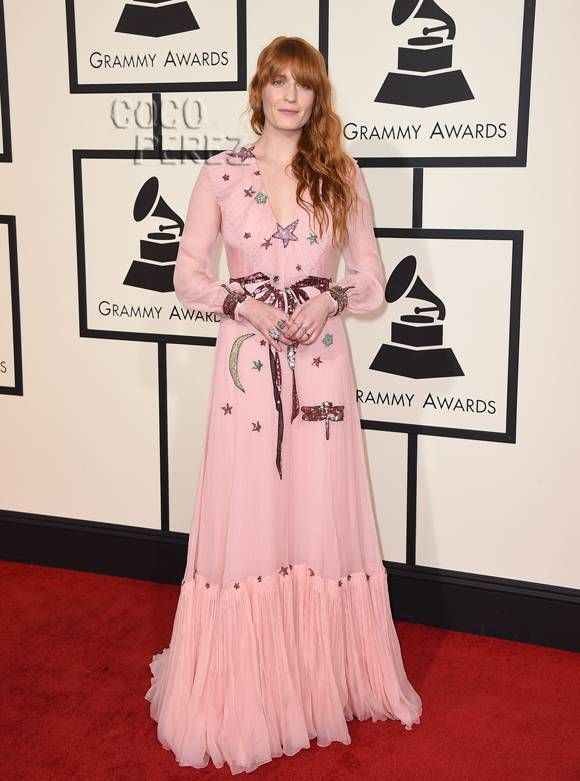 I love a great boho babe look. Florence Welch in Gucci at tonight's Grammys is absolutely gorgeous ♡