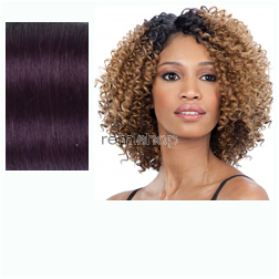 Equal (SNG) Lace Deep Diagonal Part Flower Blossom  - Color OTDKPU - Synthetic (Curling Iron Safe) Diagonal Invisible Part Lace Front Wig - Closed Invisible Part