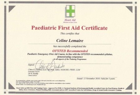 Heart Aid Paediatric First Aid Certificate First Aid Pinterest - first aid certificate template