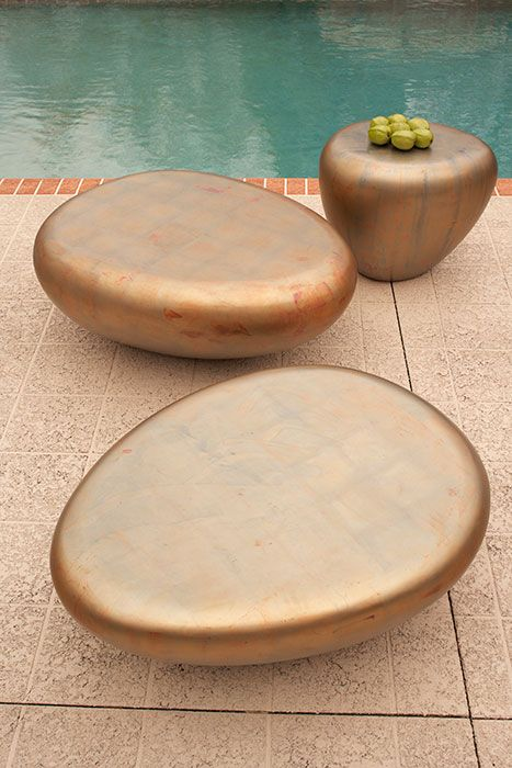 products in this photo: ph62407 - pebble side table, copper patina
