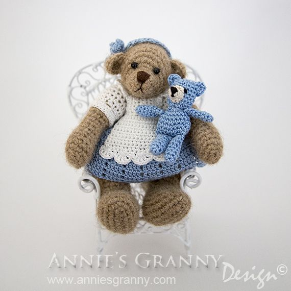 Crochet bear Alice ♡ by Annie\'s Granny Design - Free pattern for ...