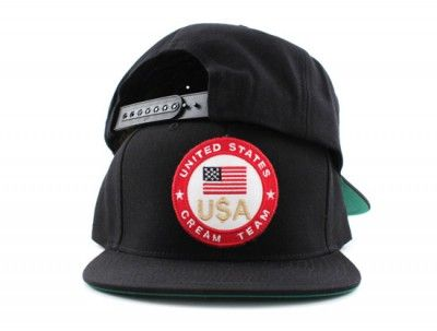 UNITES STATE CREAM TEAM SNAPBACK HATS (BLACK GREEN UNDER BRIM) In America  they don t ask you how you got your dollar they ask you if you have it! 41dd9cb5c59