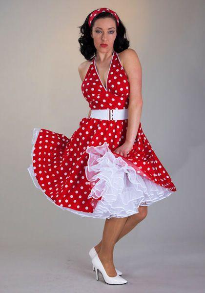 Petticoat Kleid Rockabilly Polka Dots von PetticoatShop Berlin auf DaWanda.com