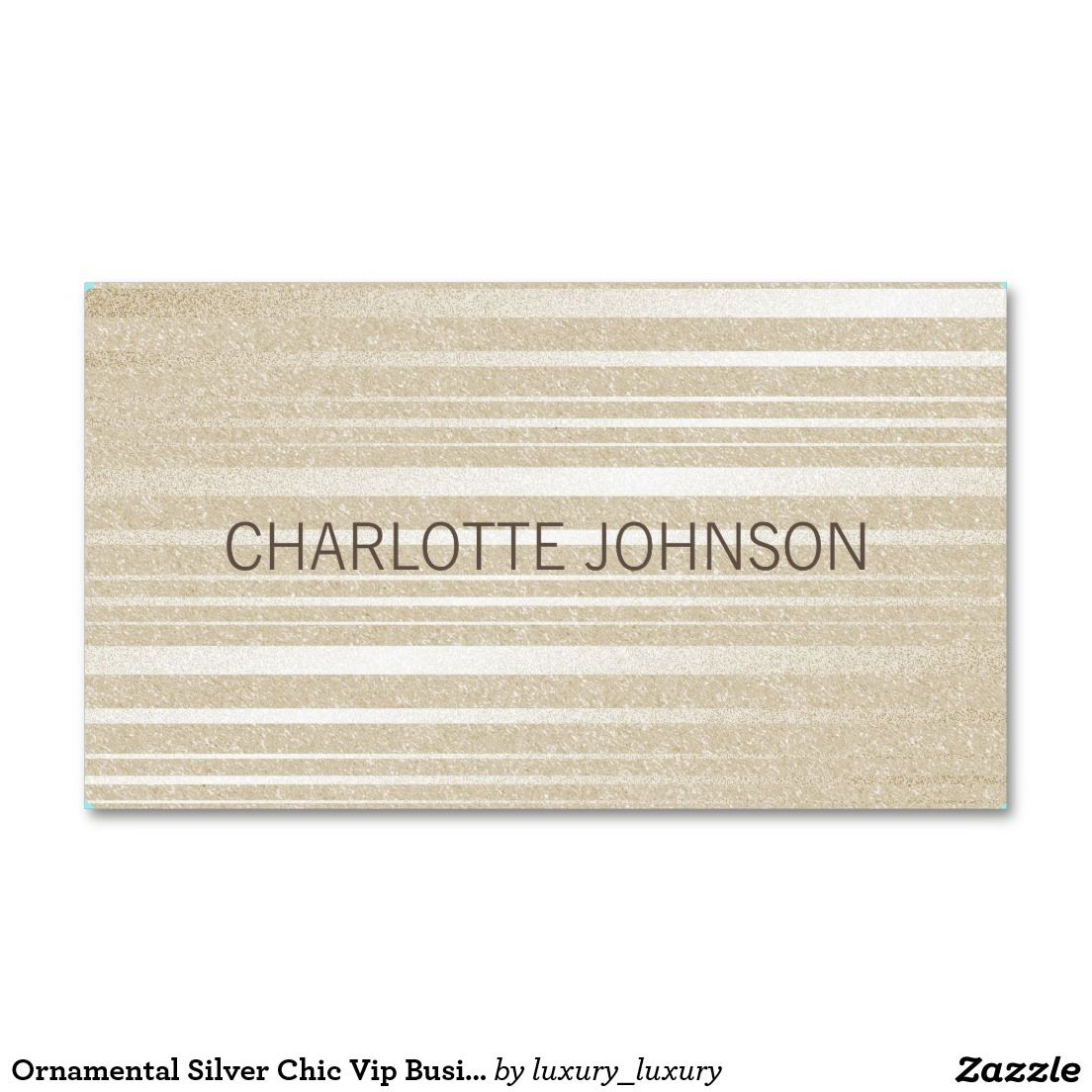 Ornamental Silver Chic Vip Business Card | Business cards and Business